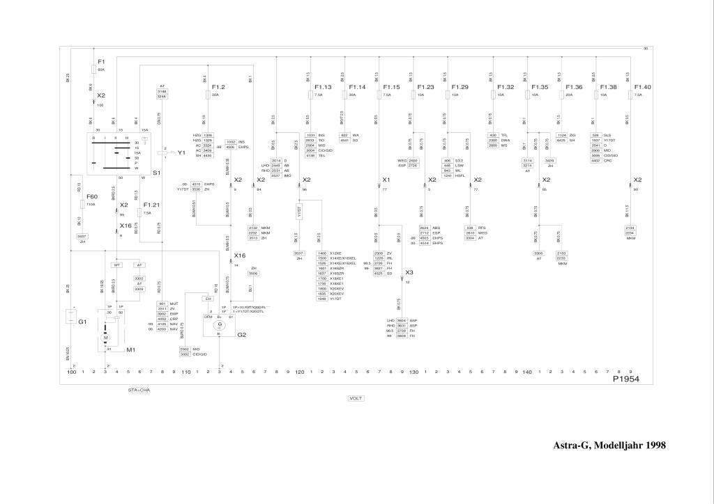 1998 Astra G Wiring Diagrams Pdf  1 76 Mb